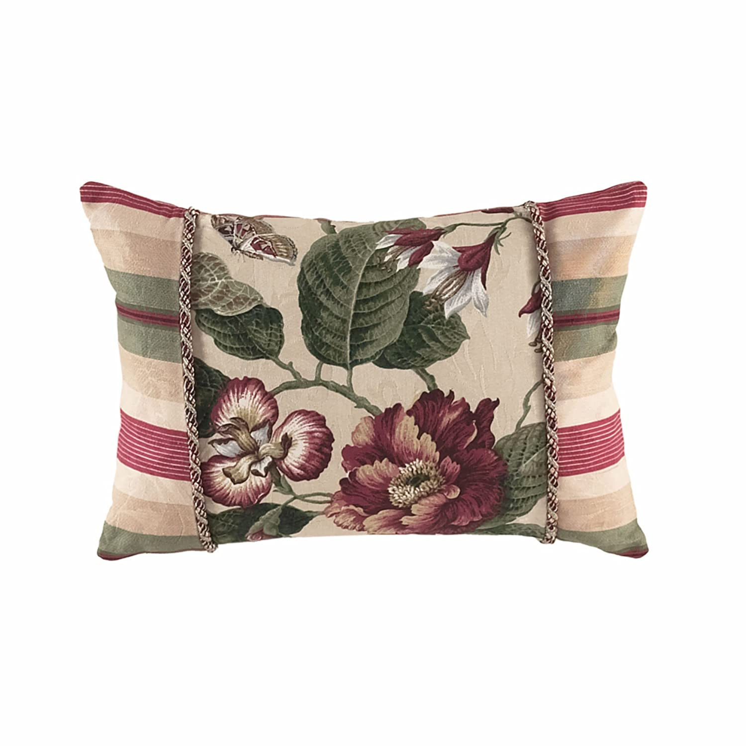 WAVERLY 13156014X020MUL Laurel Springs 20-Inch by 14-Inch Oblong Accent Pillow, Multi