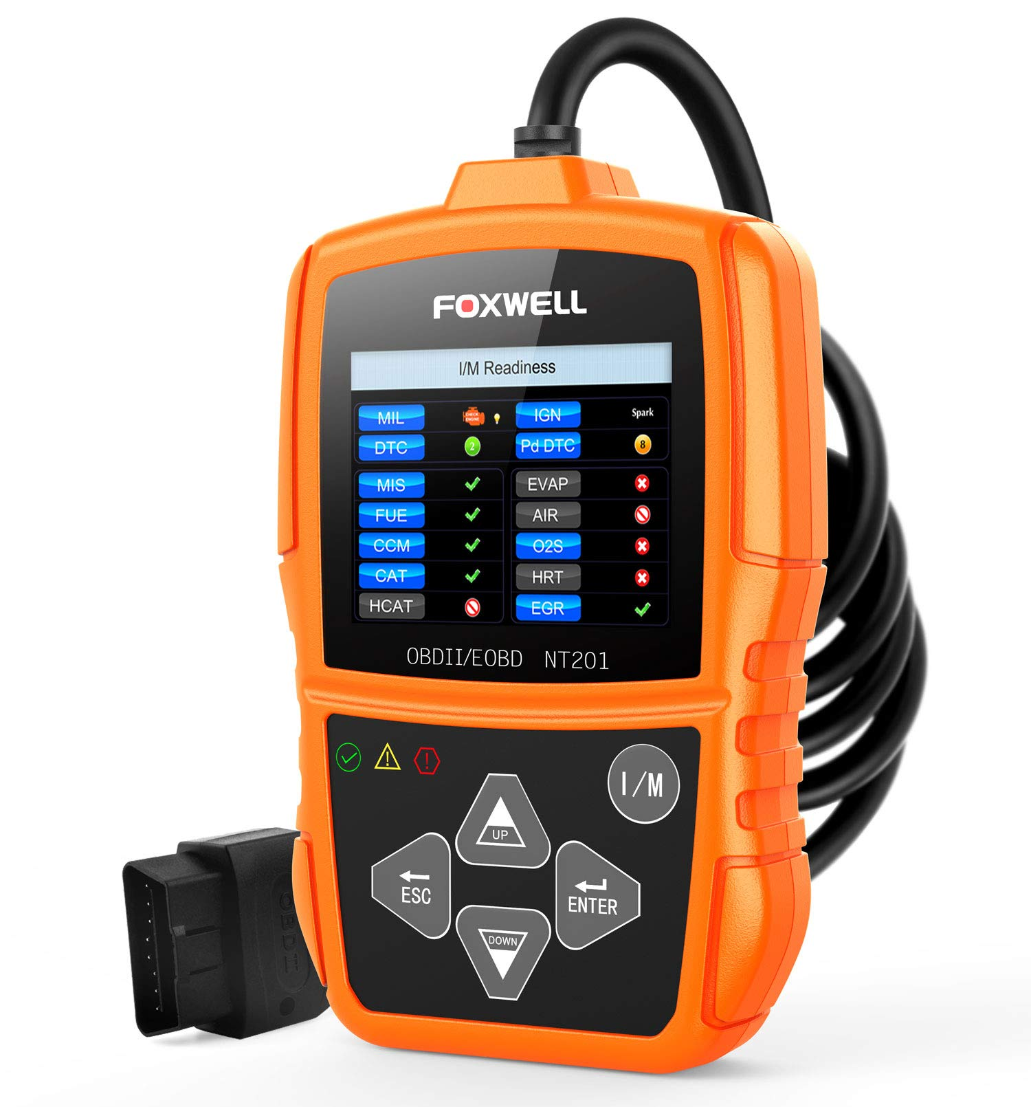 FOXWELL NT201 Auto OBD2 Scanner Check Car Engine Light Fault Code Reader OBD II Diagnostic Scan Tool