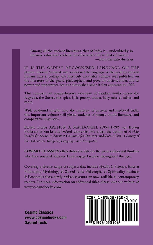 Amazoncom A History Of Sanskrit Literature - Ancient indian literature