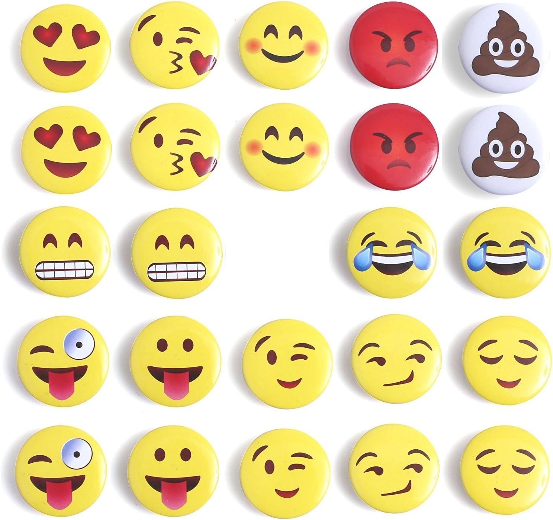 Mymazn Emoji Magnets Whiteboard Magnets, Fridge Magnets Refrigerator Magnets Office for Dry Erase Board Magnetic Smiley Face Magnets (Emoji 24)