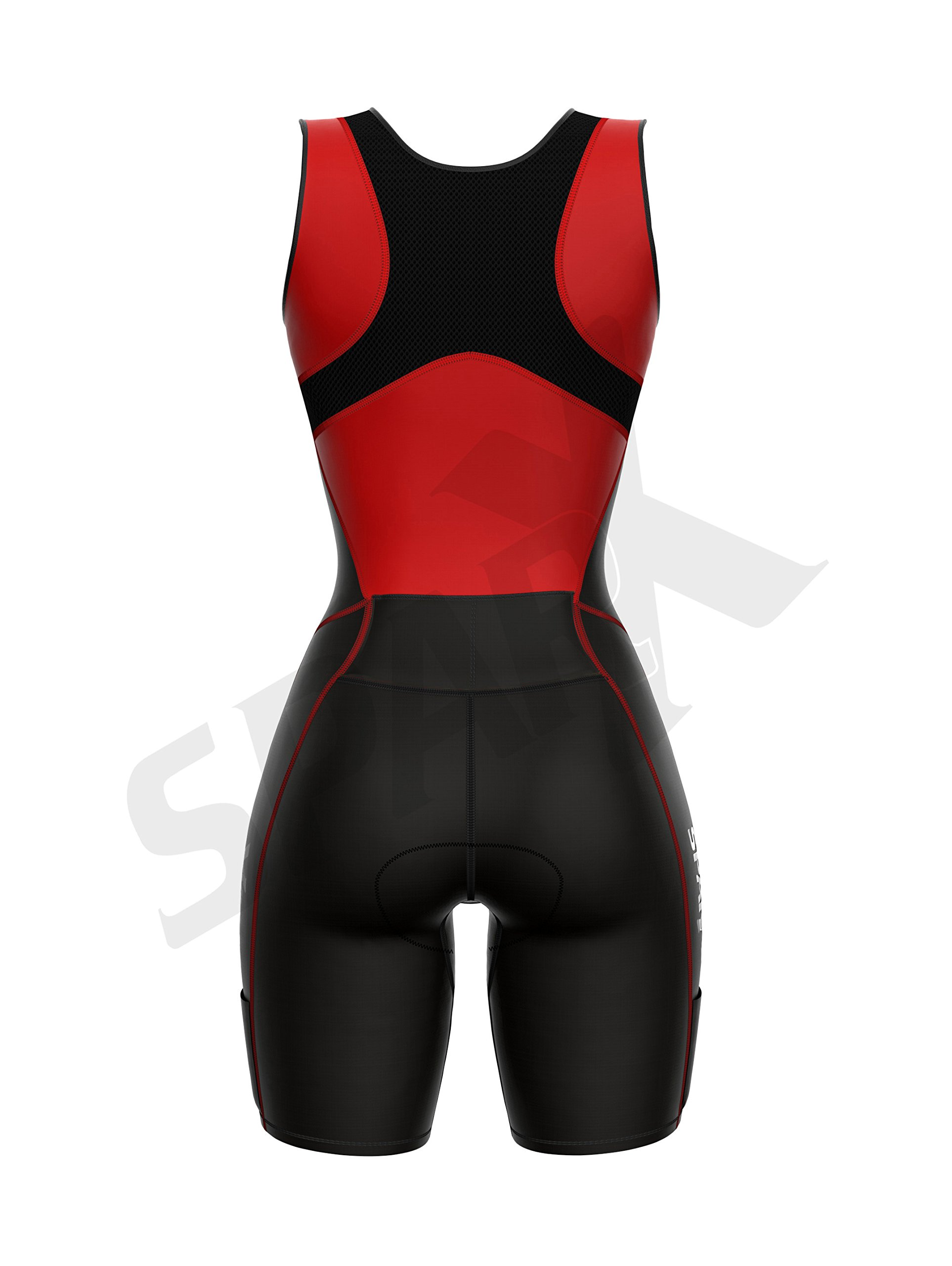 Sparx Women Triathlon Suit Tri Short Racing Cycling Swim Run (Small, Red) by Sparx Sports (Image #5)