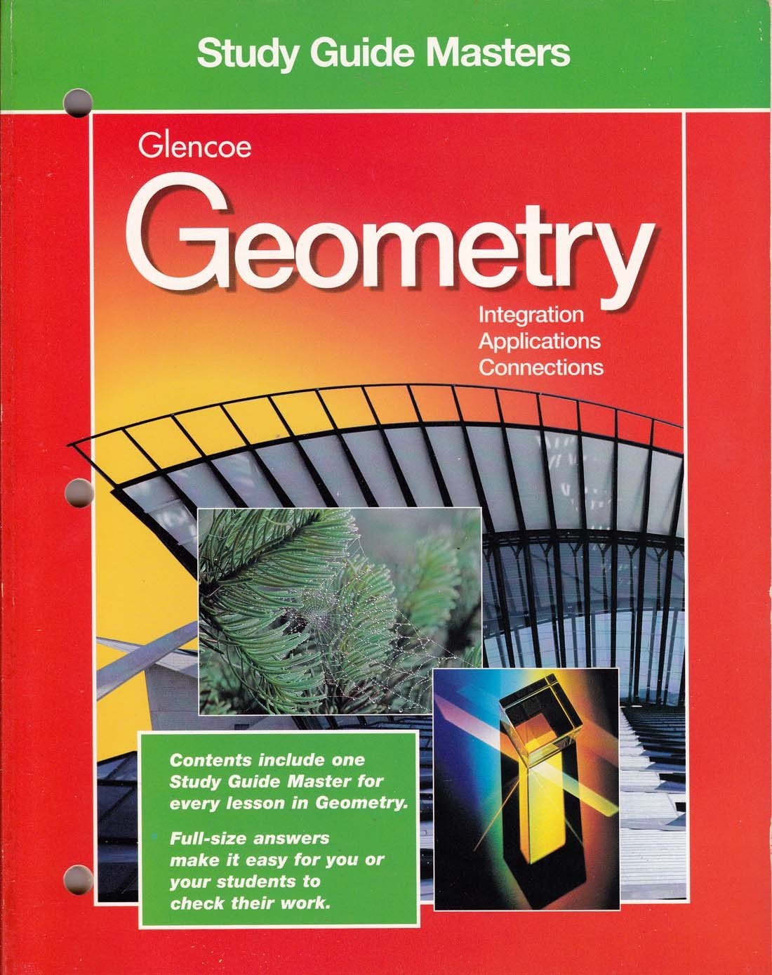 Workbooks glencoe mcgraw hill skills practice workbook answers : Study Guide Masters Glencoe Geometry, Integration, Applications ...