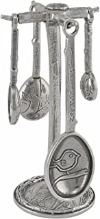 product image for Crosby & Taylor Bird Pewter Measuring Spoons with Display Post
