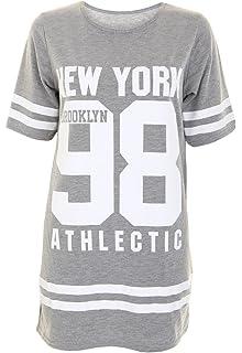 d11fa6fad 7 Fashion Road Womens Ladies American 98 Varsity Football Oversize Baggy T  Shirt Top Plus Size