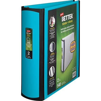 amazon com staples better binder 2 inch teal office products