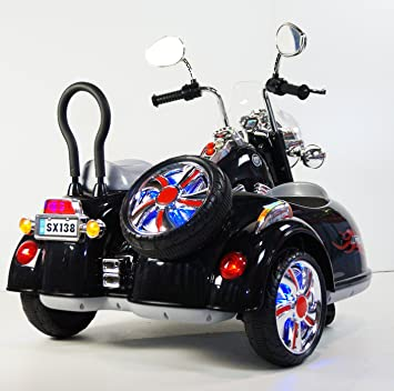ride on car 2 seater motorcycle harley davidson style for two children