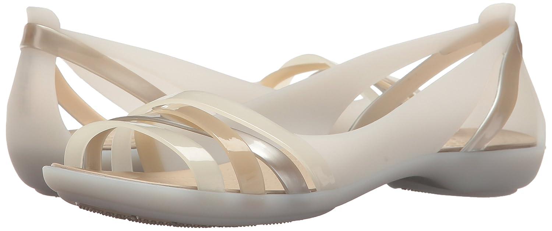 Crocs Flat Damen Isabella Huarache Ii Flat Crocs Damens Peeptoe Ballerinas, Weiß (Weiß) a75c50