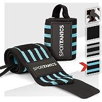 sportanics® Wrist Wraps - Polsbandages voor Fitness, Bodybuilding, Krachtsport & Crossfit, Polsbandage flexibel…