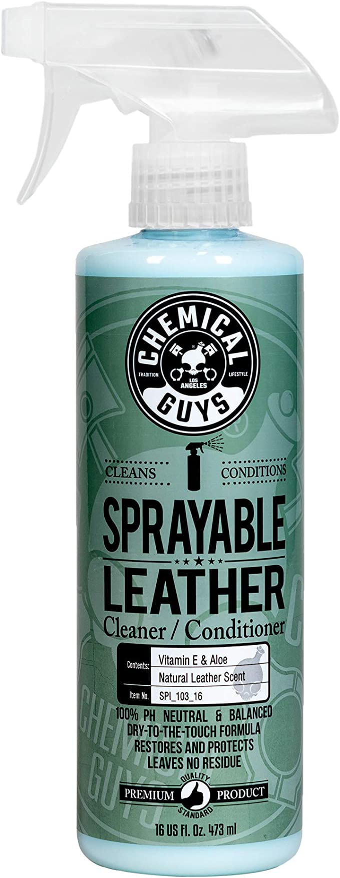 Amazon.com: Chemical Guys SPI_103_16 Sprayable Leather Cleaner and Conditioner in One, 16 oz: Automotive