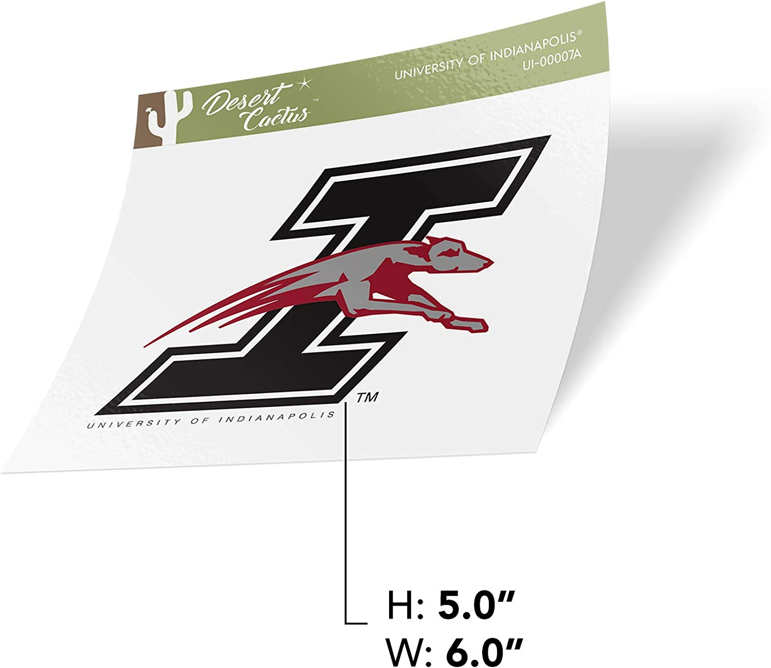 Sticker - 00007A University of Indianapolis Uindy Greyhounds NCAA Vinyl Decal Laptop Water Bottle Car Scrapbook