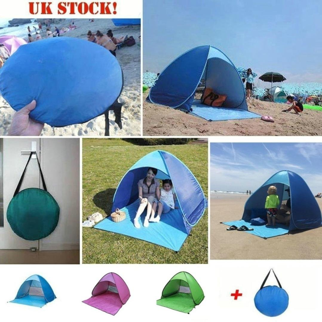 Beach Shade Pop Up,Sunfei Fully Automatic Set-up Camping Beach Shade Tent Speed Open Outdoor UV Protection with Carry Case (Green) by ®Sunfei (Image #3)