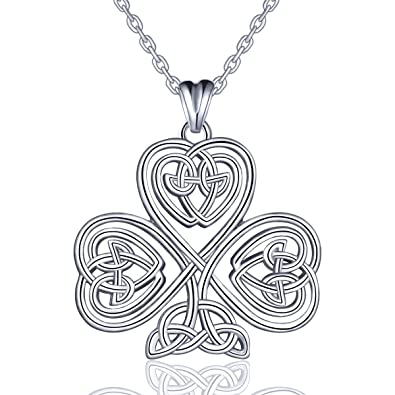 EUDORA 925 Sterling Silver Heart Celtic Tree of Life Pendant Necklace Women Jewellery for Girls Best Gift 18inch vtiwF