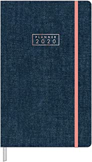 Agenda Costurada Planner Cambridge Denim Tilibra 2020