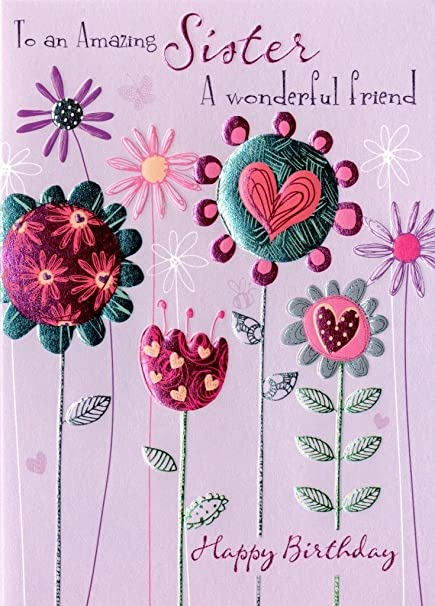 Amazon amazing sister birthday greeting card second nature amazing sister birthday greeting card second nature daydreams cards m4hsunfo