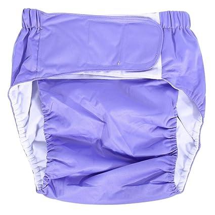 Pañal para adultos, tamaño mediano, de algodón cómodo, reutilizable, con excelente absorción, para prevenir pérdidas laterales, incontinencia, para ...
