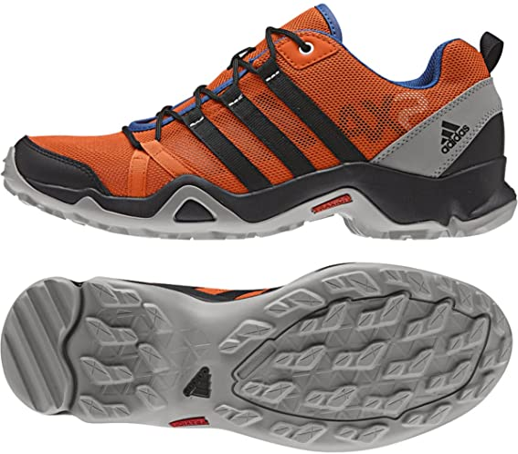 Adidas AX2 Breeze Mens Hiking Shoe 8.5 Orange-Black-Medium Grey ...