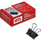 MTL 79162 - Pack de 12 pinzas metal, 32 mm, color negro