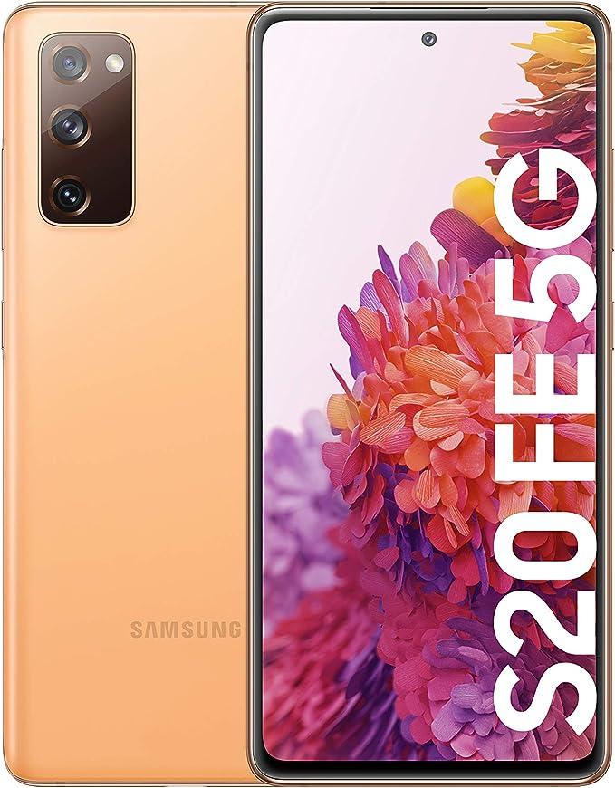 Samsung Galaxy S20 FE 5G, Smartphone Android Libre, Color Naranja [Versión española]: Amazon.es: Electrónica