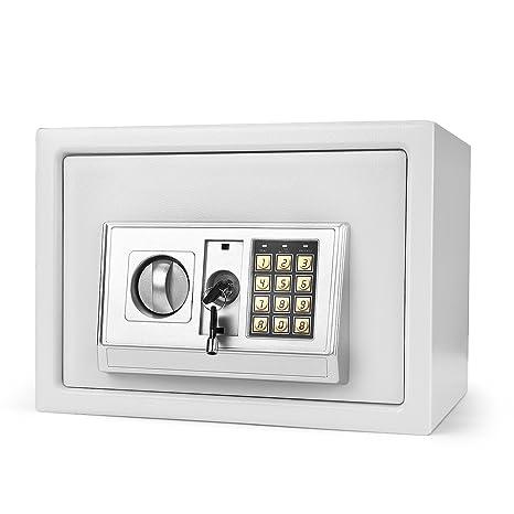 flexzion Digital caja de seguridad electrónica Caja Armario de seguridad con cerradura con 2 llaves de