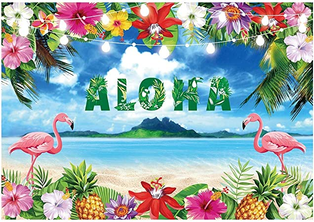 Tiki Party Pool Party Printed Or Printable File Floral Dessert Table Banner Tropical Luau Party Backdrop Summer Parties