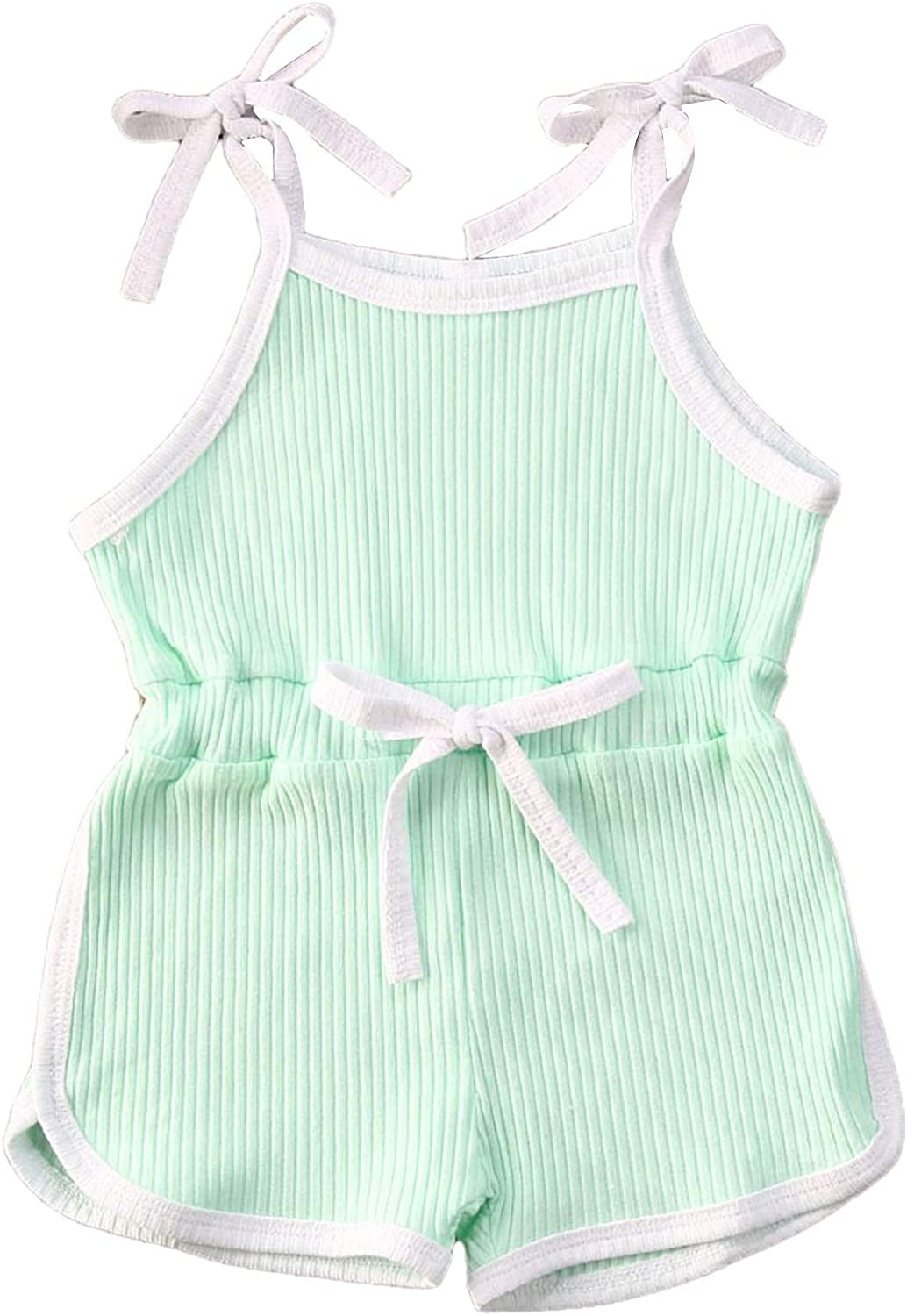 WANGSCANIS Baby Girl Boy Ruffle One-Pieces Summer Romper Newborn Toddler Short Sleeve Bodysuit Outfits 0-24 Months Clothes