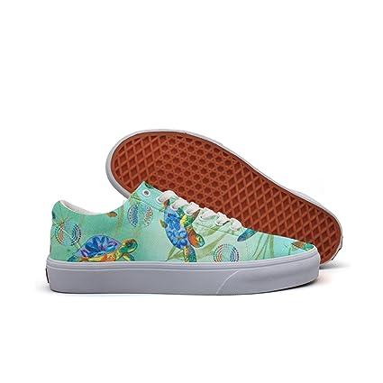5dbda72723c8f Amazon.com: SERXO Sea Turtles Seagrass Women's Casual Sneakers ...