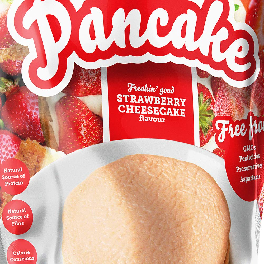 Prozis Pancake 1250 g Tarta de queso con fresas
