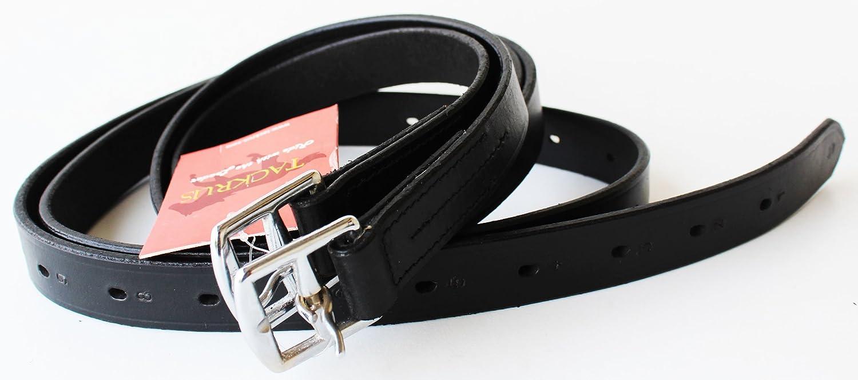 英語Equestrian馬タック大人用レザースターラップレザー804st10 60\ ブラック B07B2QJZR4