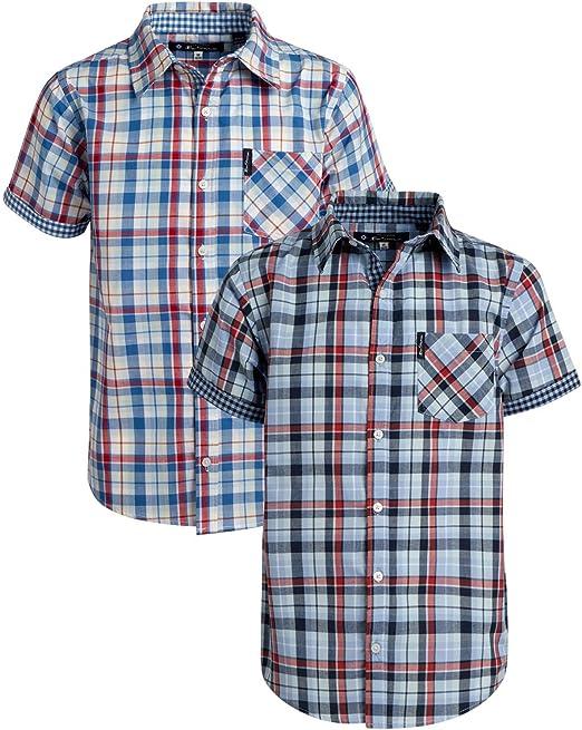 Ben Sherman Boys Short Sleeve Button Down Woven Shirt (2 Pack): Amazon.es: Ropa y accesorios