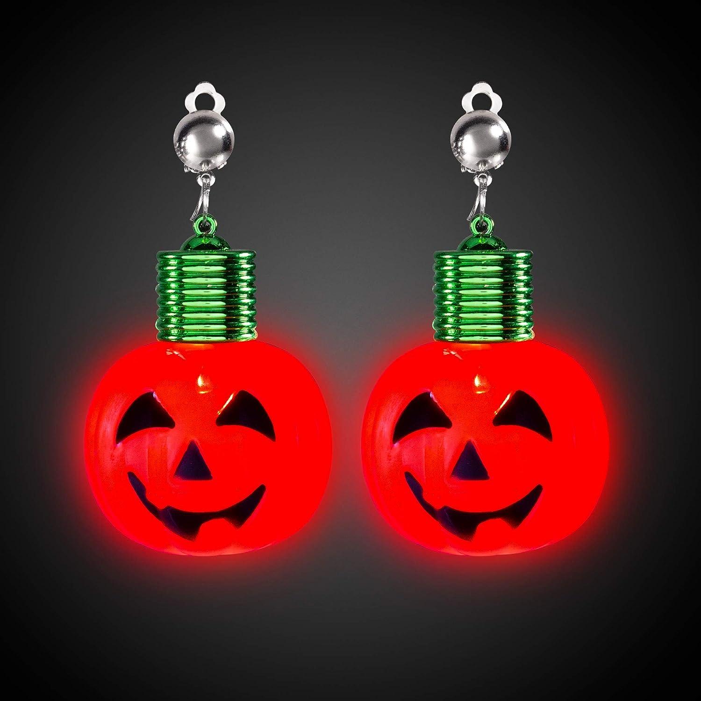 Handmade Halloween Pumpkin Silver Plate Earrings Gift Boxed Pair