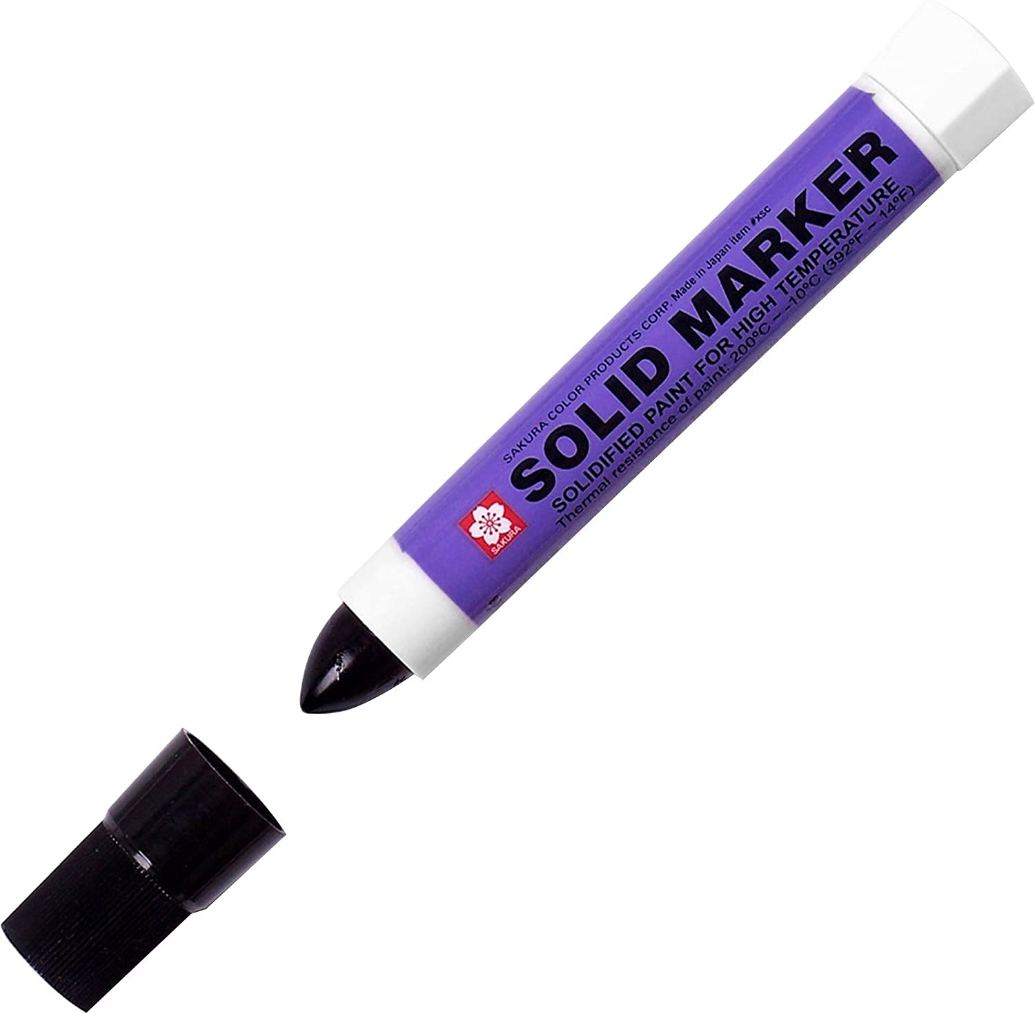 14 to 392 Degrees F Sakura Solidified Paint Solid Marker Black