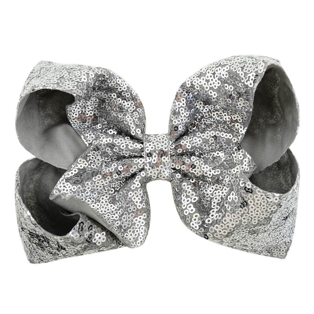 inSowni 8'' Big Large Glitter Bow Hair Clips Barrettes for Baby Girl Toddlers Kids Women (6PCS S2 (Size/8'')) by inSowni (Image #6)