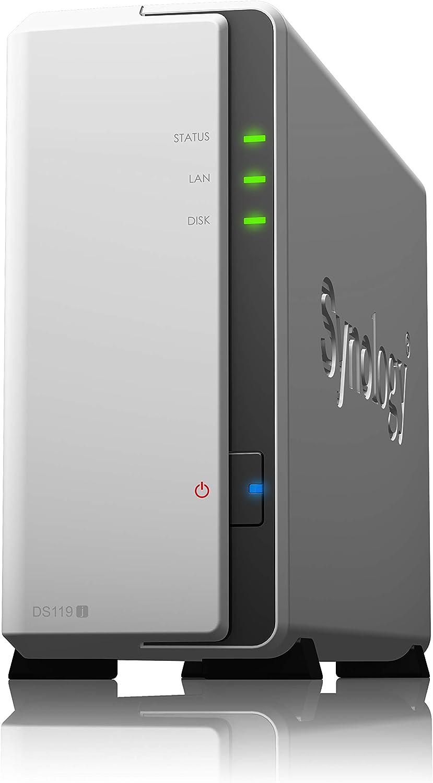 Synology DiskStation DS119j Ethernet Torre Gris, Blanco NAS - Unidad Raid (No Incluye Disco Duro)