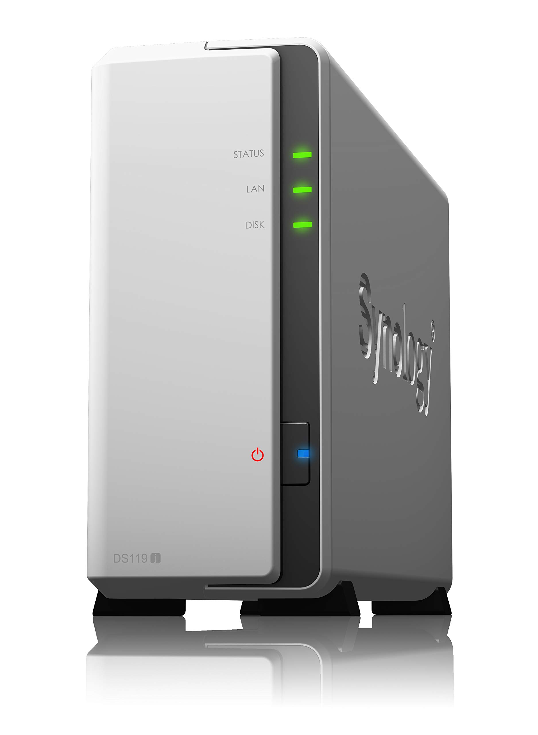 Synology 1 Bay NAS DiskStation (DS119j), 1-Bay; 256MB DDR3L by Synology (Image #1)