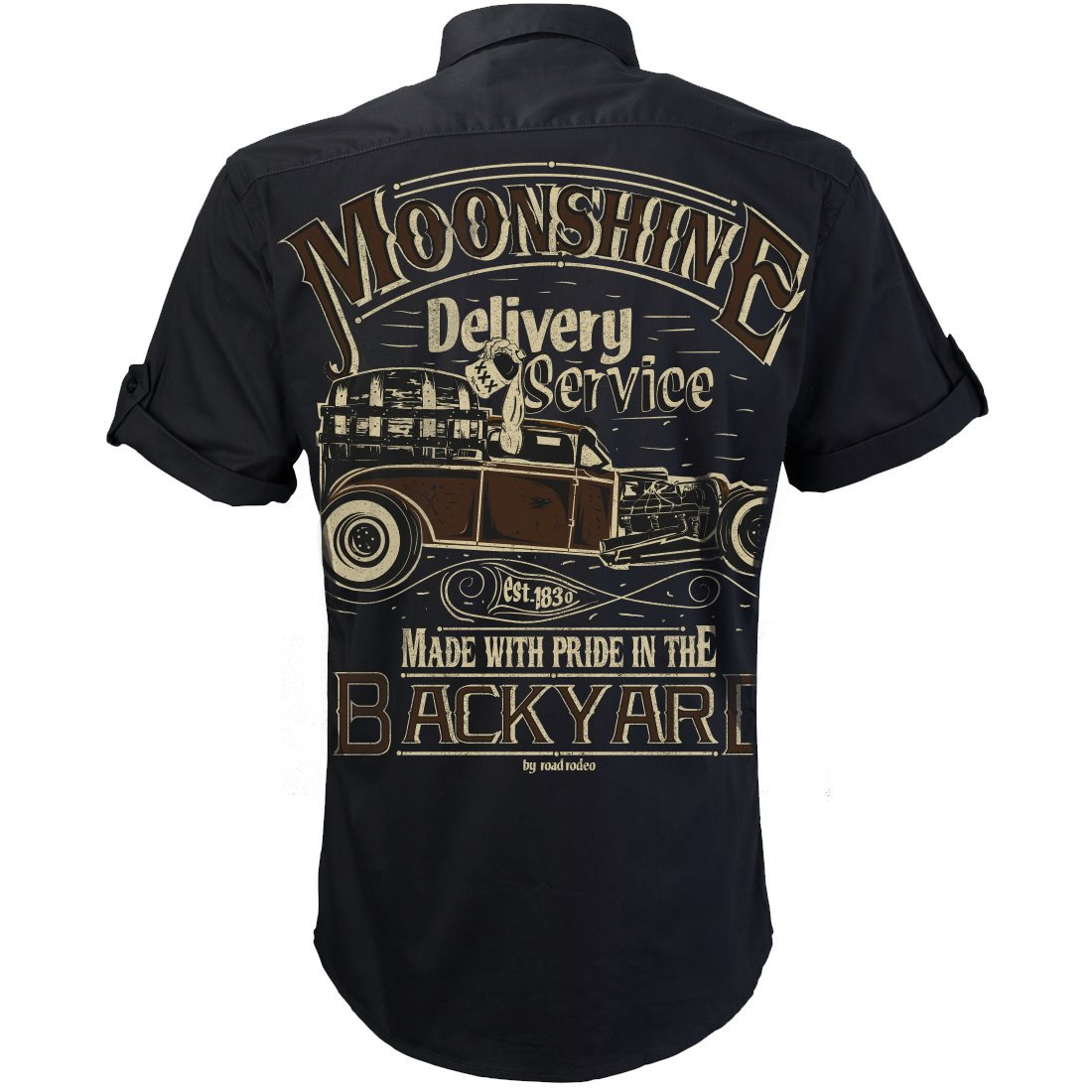 V8 Rock and Roll Rockabilly,Mechanic Work Shirt Moonshine Delivery Booze