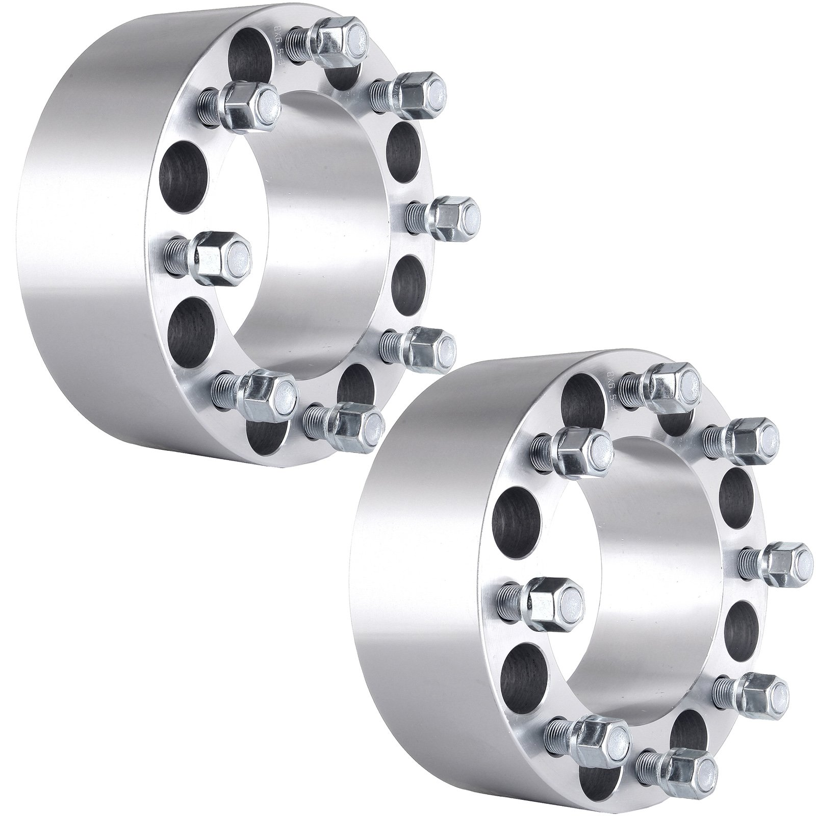 ECCPP 8x6.5 Wheel Spacers, Wheel Spacer Adapters 8 Lug 2X 3(75MM) 8x6.5(125MM) Replacement fit Dodge RAM 2500 3500 DUALLY HD Ford F250 F350 Econoline 250 350 9/16'' x 18 Studs & Lug Nuts