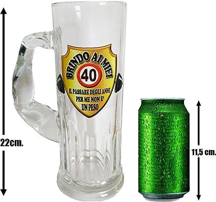 91b8edcc88 Boccale da birra per la festa di compleanno (40 anni): Amazon.it: Casa e  cucina