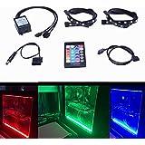 Tingkam® 2pcs 18w 30cm RGB 5050 SMD LED-Streifen Full Kit mit 24 Tasten Fernbedienung für Desktop PC Computer Mid Tower Gehäuse