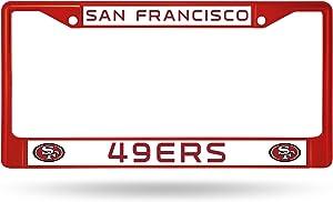 NFL Rico Industries Standard Chrome License Plate Frame, San Francisco 49ers