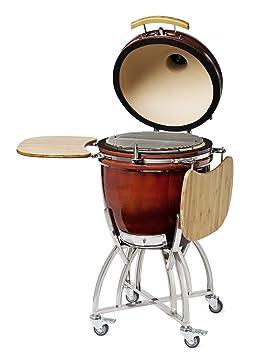 firebeanie kamado Barbacoa 21 rojo cerámica parrilla Barbacoa de carbón