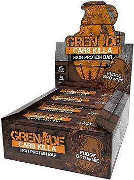 Grenade Carb Killa High Protein and Low Carb Barra Sabor Fudge Brownie - 12 Unidades