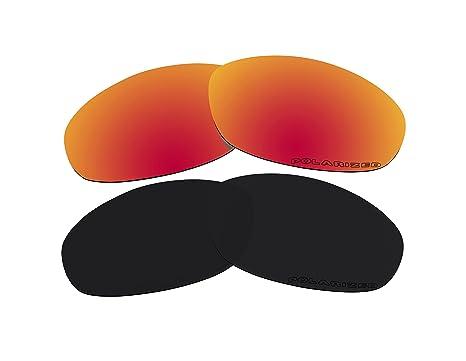 65aa17f44f3393 2 paires polarisées Lentilles de remplacement Rouge et Noir pour lunettes  de soleil Oakley XS Club