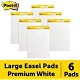 Post-it *粘性画架垫,63.5 x 76.2 厘米,30 张/垫,6 张衬垫(559VAD6PK),大白色优质自粘翻转图纸,*粘附力 常规款 6 Pads 白色