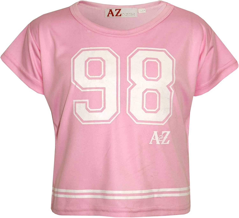 Kids Girls Top 98 Print Stylish Baby Pink Crop Top /& Fashion Legging Set 5-13 Yr