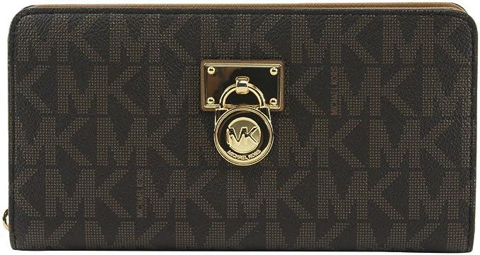 022301d6949c MICHAEL Michael Kors Women s Hamilton Traveler Large Zip Around Clutch  Wallet Brown Acorn