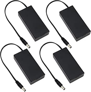 KEESIN 3.7V 18650 - Caja de Almacenamiento de batería de plástico con Enchufe de CC y Bridas de Cable de sujeción 2 Solts × 4 Piece: Amazon.es: Electrónica