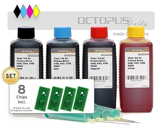 Tinta de Recambio Octopus, Tinta de Impresora con Chips en Juego ...