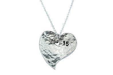 Uhren & Schmuck 15th Anniversary Heart Necklace Halsketten & Anhänger