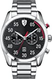 Scuderia Ferrari Watches Men's D50 All Steel Chronograph Watch With Black Dial