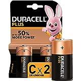 Duracell Plus C - Pilas Alcalinas paquete de 2, 1.5 Voltios LR14 MX1400